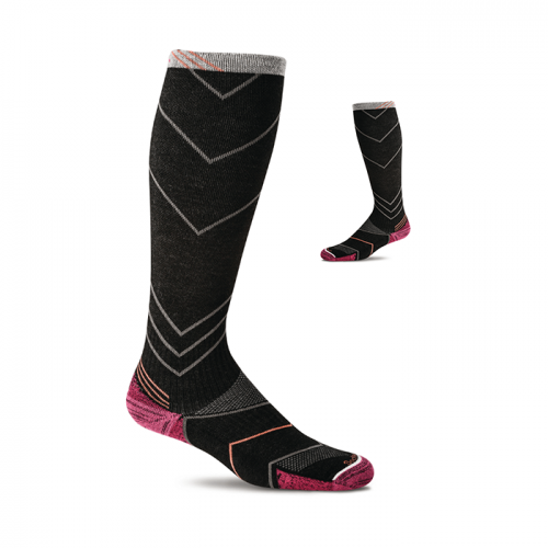 Compressie Sportsokken Incline Knee High voor Dames SW8W.900 - Zwart